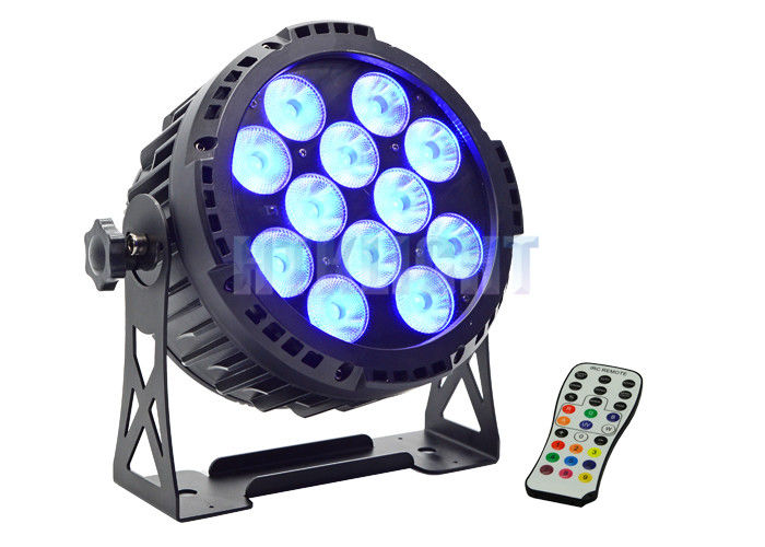 Waterproof Battery Powered LED Par 12x15w For Church High Efficiency